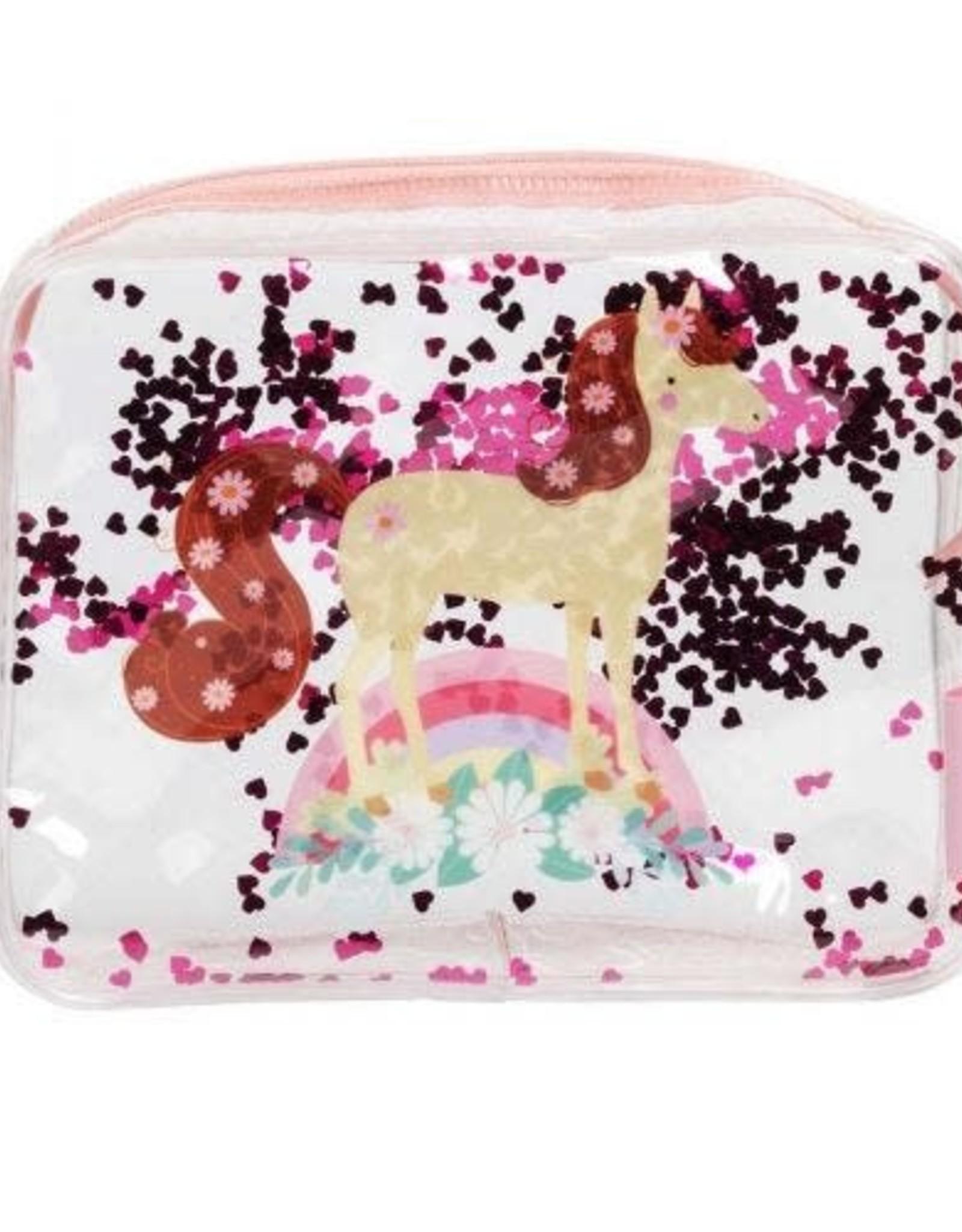 A little lovely company ALLC toilettasje glitter paard
