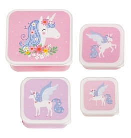 A little lovely company ALLC lunch & snackbox set: unicorn