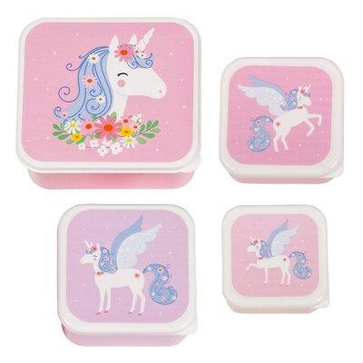 A little lovely company ALLC lunch & snackbox set: unicorn