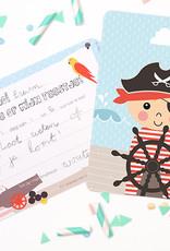 Papiergoed Papiergoed Uitnodiging Kinderfeestje Piraat per 6