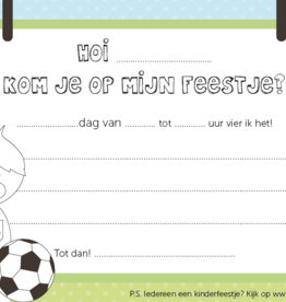 Papiergoed Papiergoed Uitnodiging Kinderfeestje Voetballer per 6