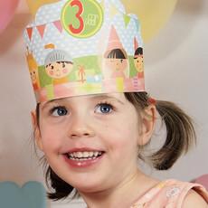 Papiergoed papiergoed verjaardagskaart feestmuts