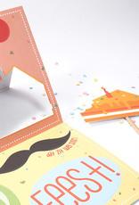 Papiergoed papiergoed Verjaardagskaart Gekheid op een stokje