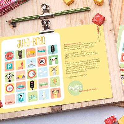 Papiergoed Papiergoed Auto Bingo