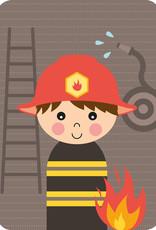 Papiergoed Papiergoed Uitnodiging Kinderfeestje Brandweer per 6