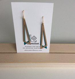 Lebeausset Lebeausset 005 hanger goudkleurig en turquoise