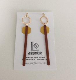 Lebeausset Lebeausset 012 hangers roest, oker en goudkleurig