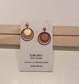 Lebeausset Lebeausset 017 oorstekers goud, roest en nude