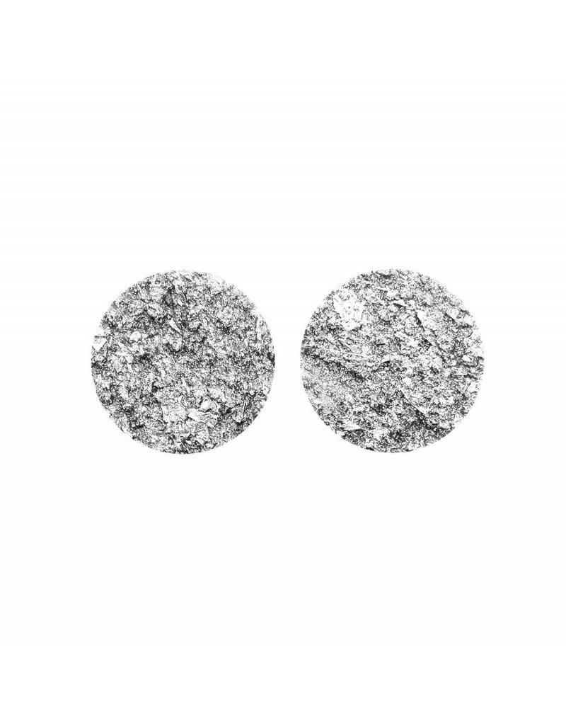 made by ellen Made by ellen 061 stekers plat 20 mm spikkel zilver