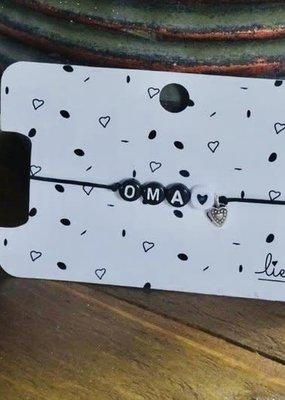Lief label Lief label 1 armbandje OMA
