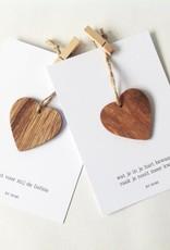 By romi by romi: kaart met harthanger Jij bent voor mij de liefste