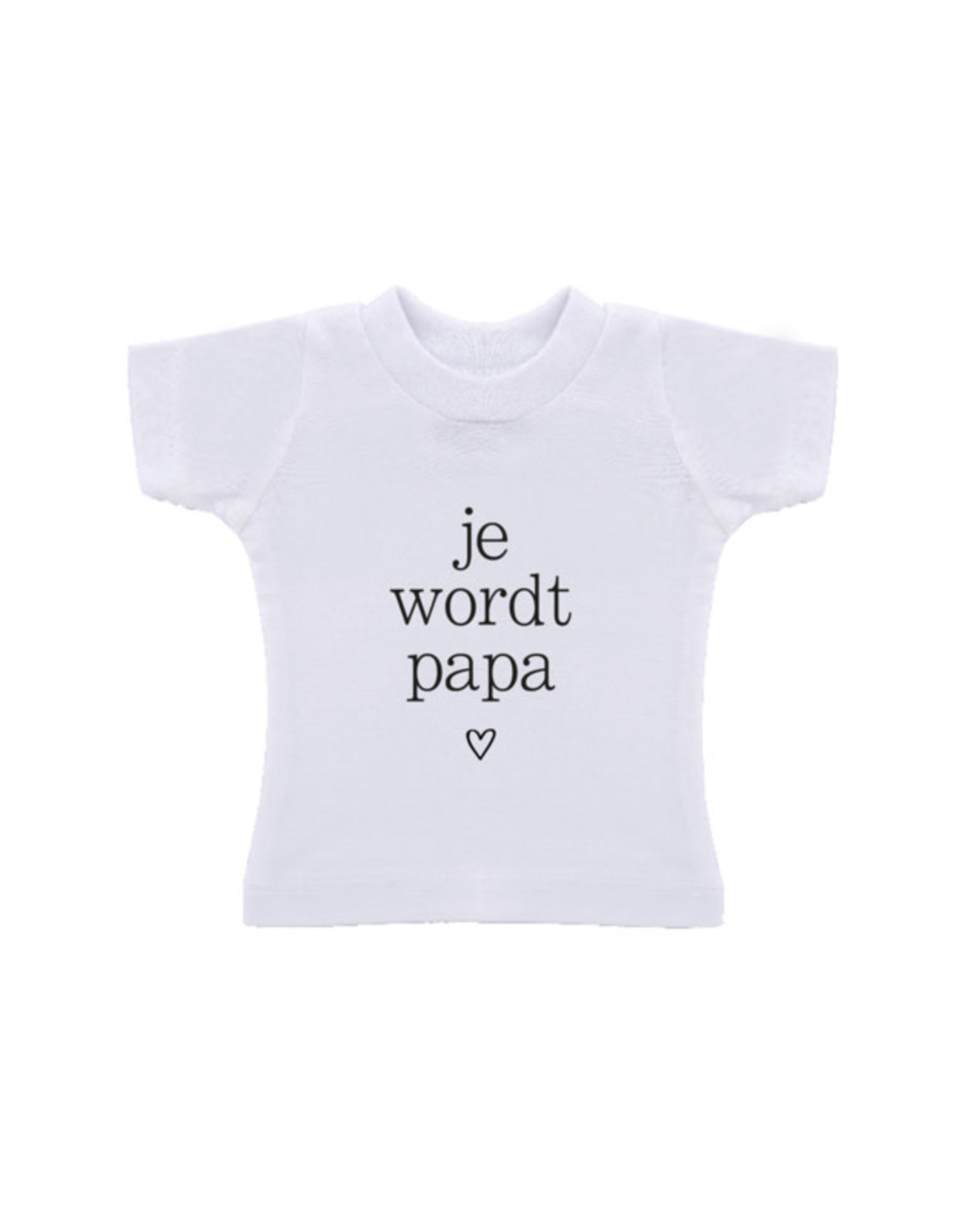 By romi by romi t-shirt in een zak: je wordt papa