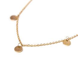 Label kiki label kiki Label necklace gold