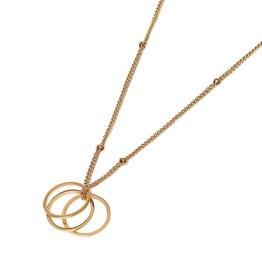 Label kiki label kiki Ring necklace gold