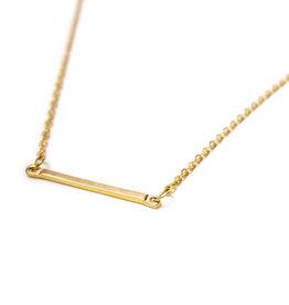 Label kiki label kiki Bar necklace gold