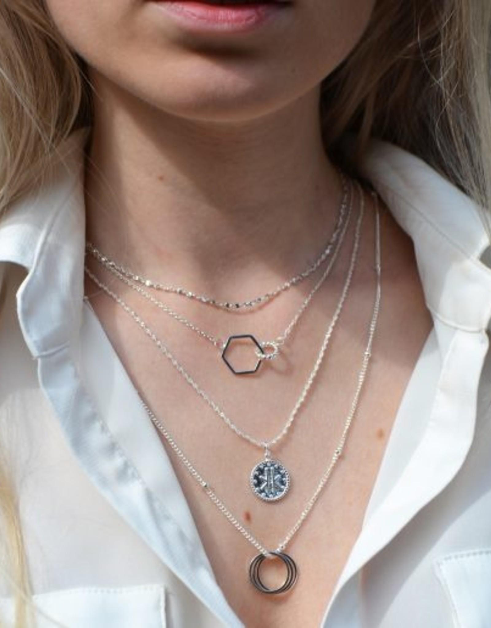 Label kiki label kiki Rewind necklace silver