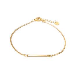 Label kiki label kiki bracelet bar gold