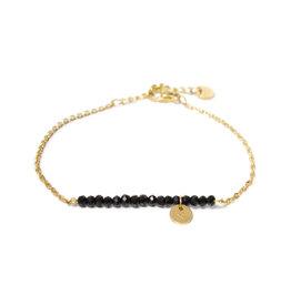 Label kiki label kiki bracelet black stone gold