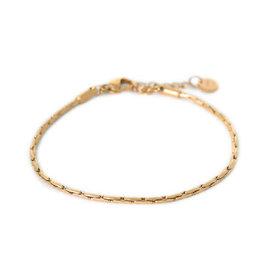 Label kiki label kiki bracelet brickwork gold