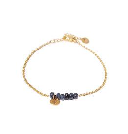 Label kiki label kiki bracelet jade anthracite gold