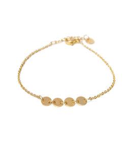 Label kiki label kiki bracelet round gold