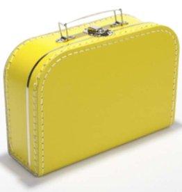 kinderkoffertjes.nl kinderkoffertjes bedrukt 25 cm geel