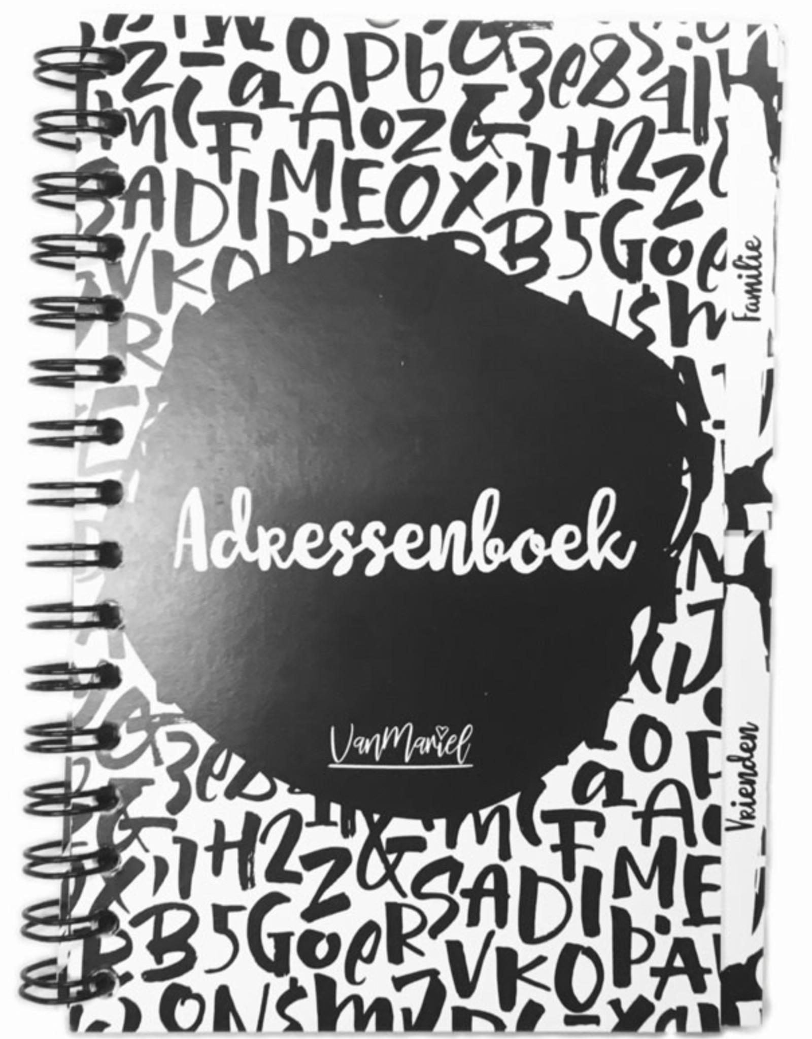 Van Mariel van mariel adressenboek met tabbladen