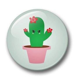 studio inktvis studio inktvis button 32 mm cactus