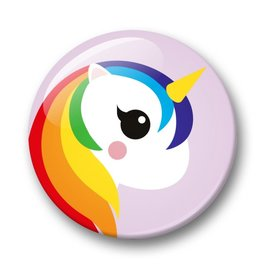 studio inktvis studio inktvis button 32 mm unicorn paars
