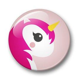 studio inktvis studio inktvis button 32 mm unicorn roze