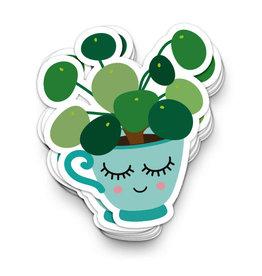 studio inktvis studio inktvis stickers XL pannenkoekenplant