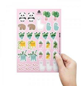 studio inktvis studio inktvis stickervel panda pannenkoekenplant
