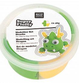 rico design rico design Super fluffy grappige diertjes draak
