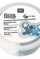 rico design rico design Super fluffy grappige diertjes muis