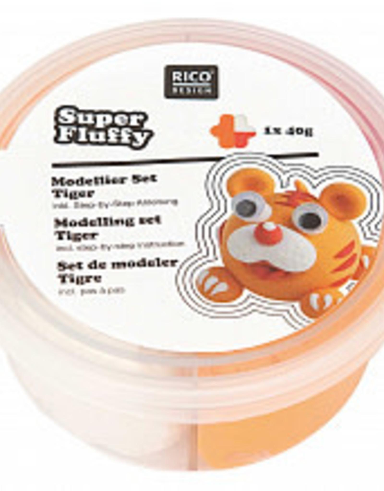 rico design rico design Super fluffy grappige diertjes tijger