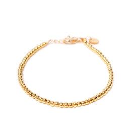 Label kiki label kiki bracelet round ball gold