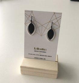 Lebeausset 053 hangers zilverkleurig en zwart