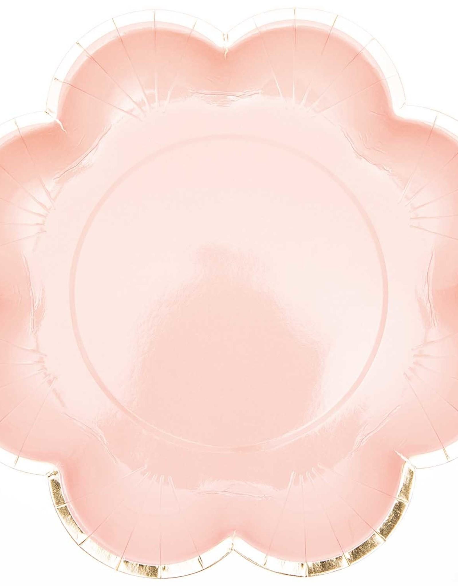 rico design rico design kartonnen bordjes roze met gouden rand