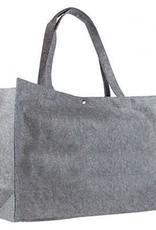gepersonaliseerde boodschappentas vilt grijs