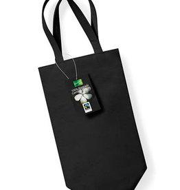 gepersonaliseerde flessentas zwart