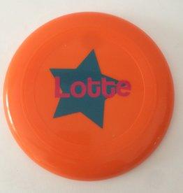 gepersonaliseerde frisbee oranje