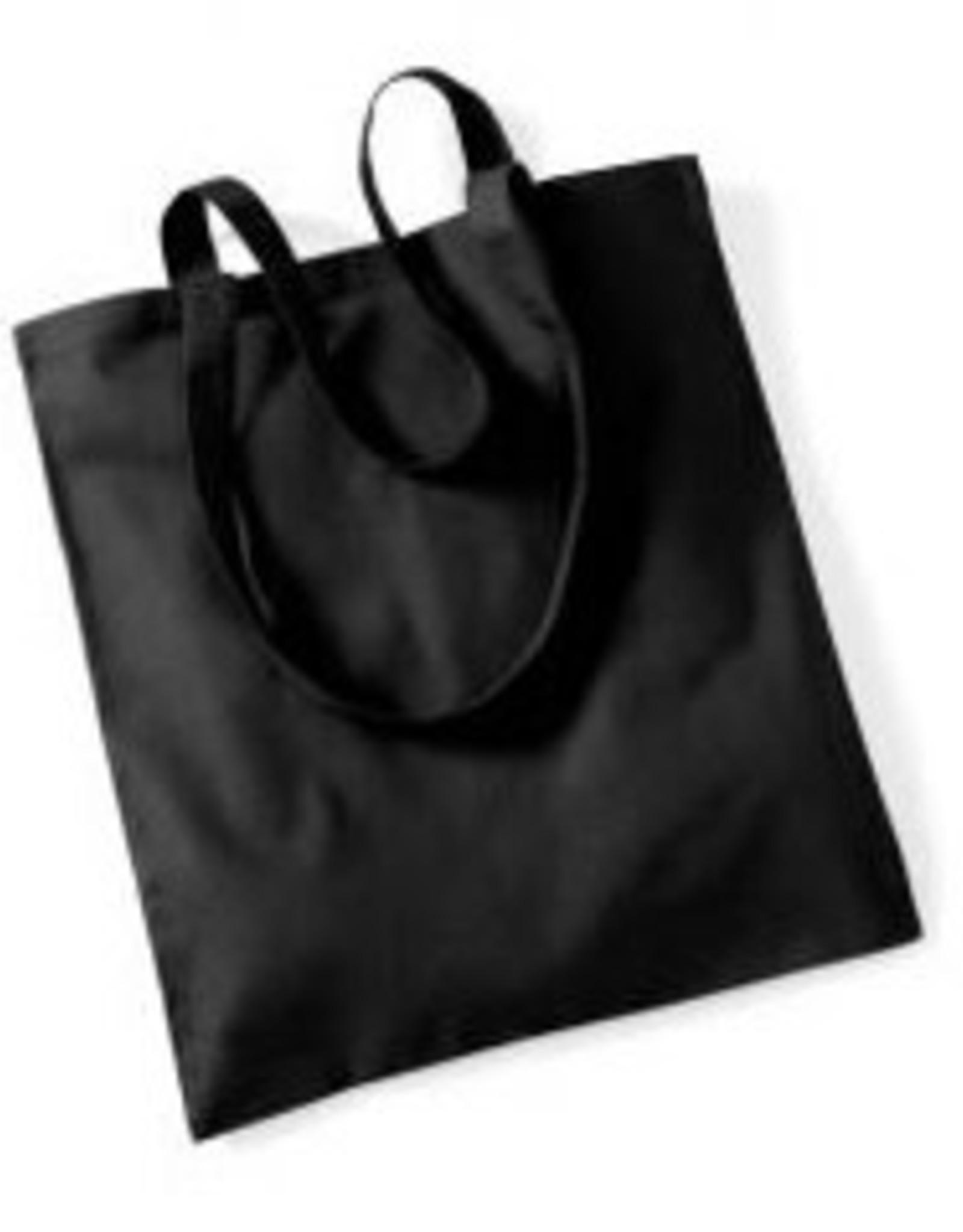gepersonaliseerde katoenen draagtas zwart