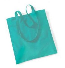 gepersonaliseerde katoenen draagtas turquoise