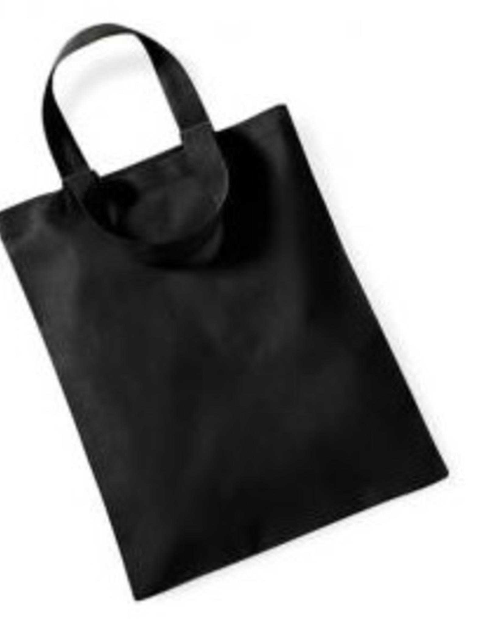 gepersonaliseerde katoenen draagtas mini zwart