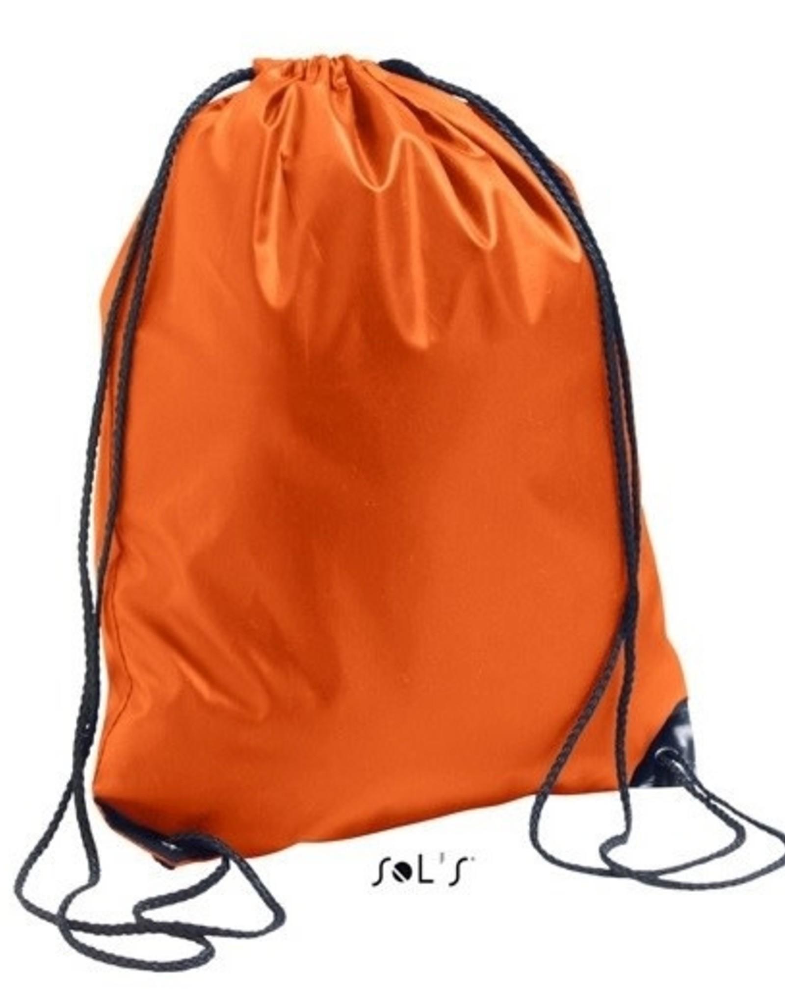 gepersonaliseerde zwemzak oranje