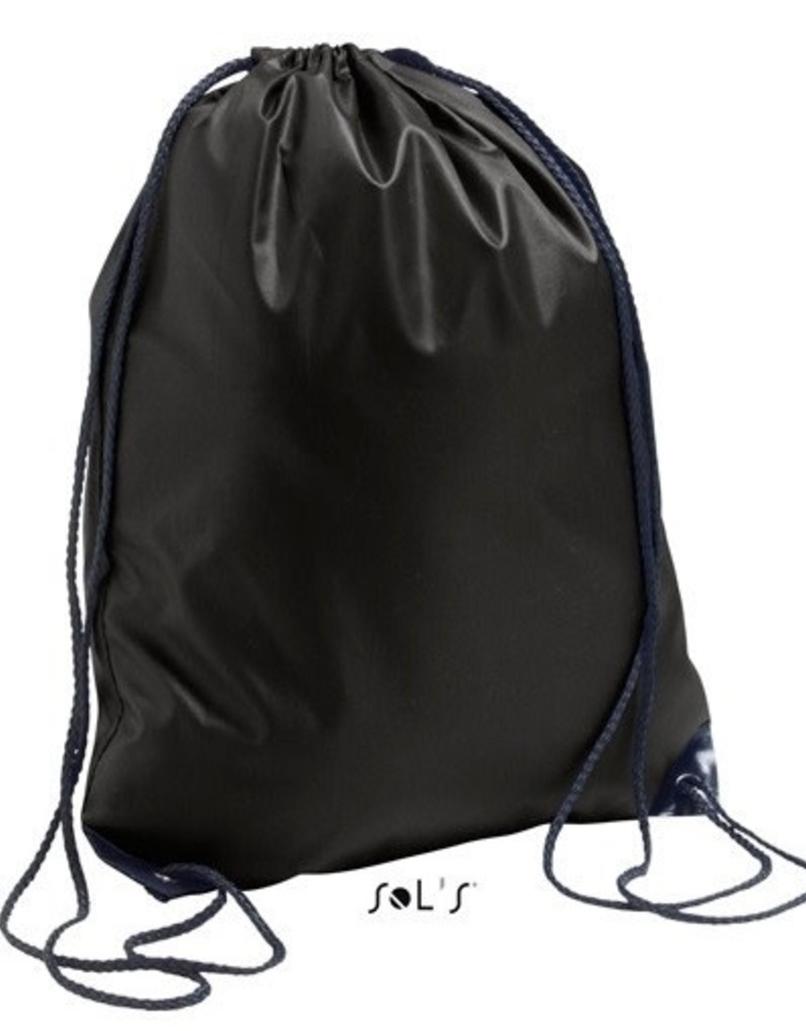 gepersonaliseerde zwemzak zwart