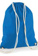 gepersonaliseerde katoenen turnzak blauw