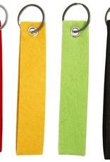 gepersonaliseerde vilten sleutelhanger groot geel