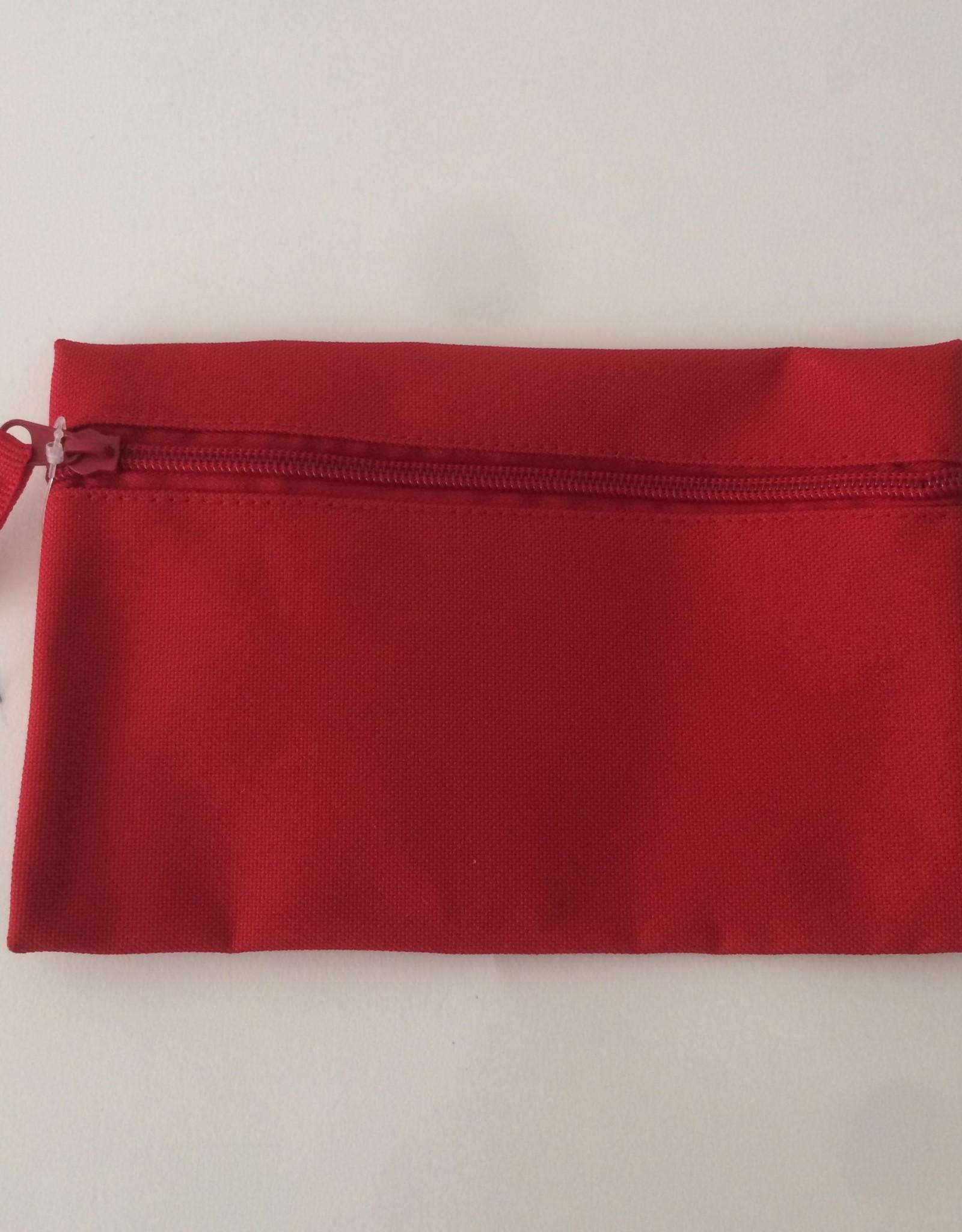 gepersonaliseerde pennenzak polyester rood