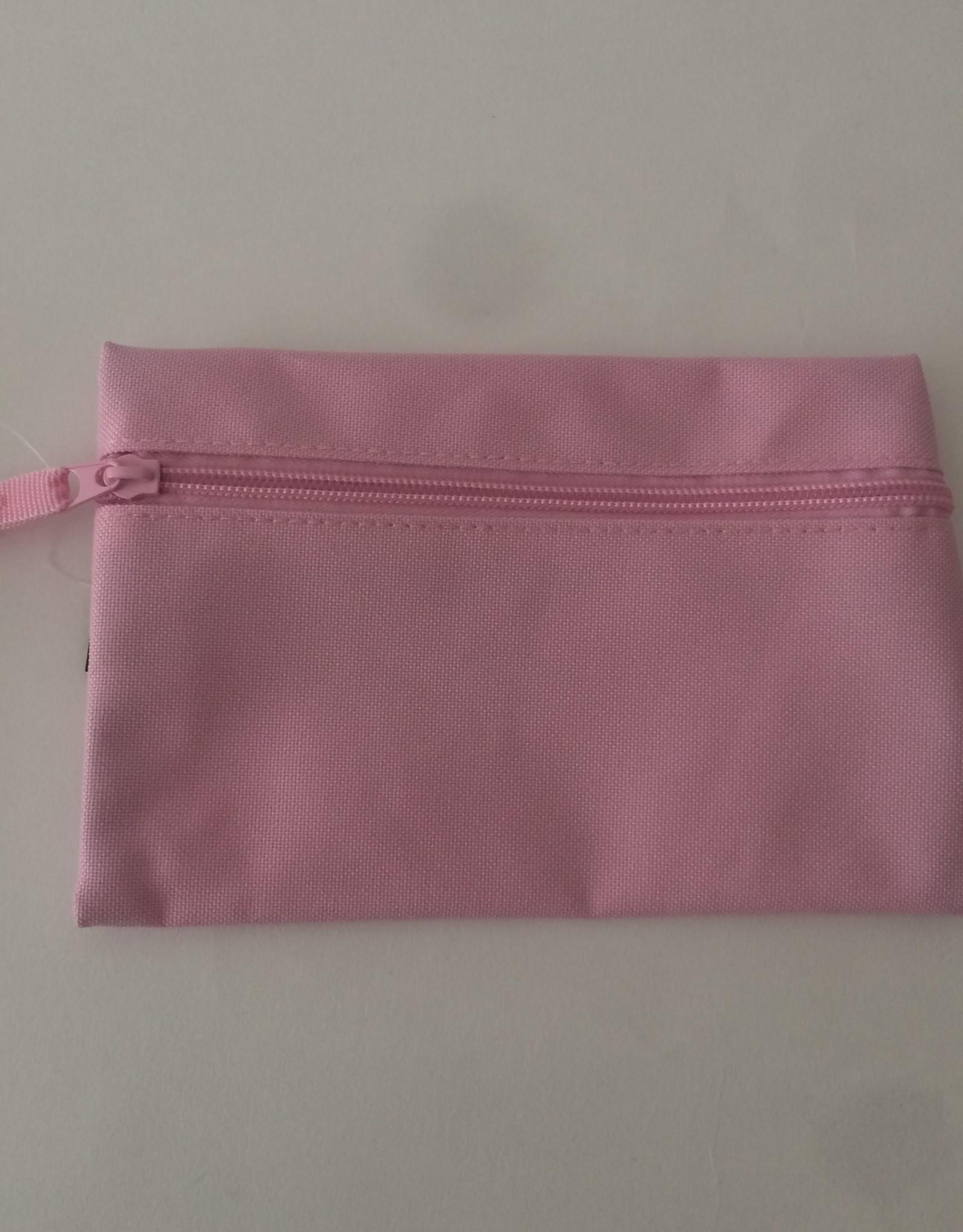 gepersonaliseerde pennenzak polyester roze